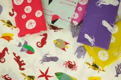 Charley Harper Maritime Poplin | Product Categories | Birch Fabrics