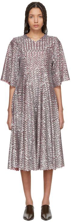 Molly Goddard Red & Silver Sally Dress