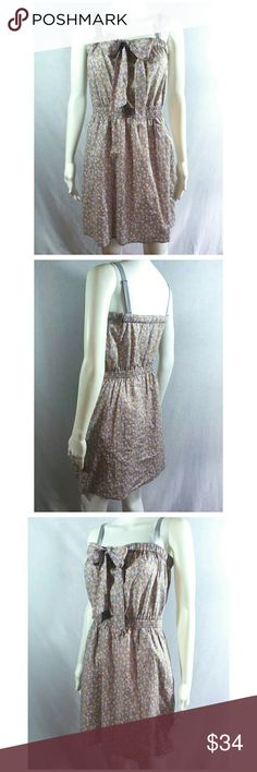 """New Sz S J. Crew Grey Pink Floral Sundress So cute and perfect dressed up or down! ! Brand new without tags. Straps are removable, pockets on hips, length falls just above the knee. 100% Cotton. All measurements are take unstretched- Across Bust 19"""", Length 27"""" from center back, Waist 14"""" across, No rips, tears, or stains.... From a smoke-free, dog friendly home, No trades!! (T84) J. Crew Dresses"""