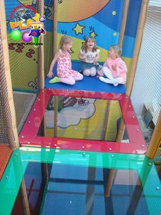 A commercial themed indoor family entertainment center. Underwater themed. At International Play Company we design, manufacture and install #commercial #indoor #playground #equipment and #play #structures. also known as #playspaces and #softplay - https://www.facebook.com/IPLAYCO This photos shows the transparent floors in the playground.
