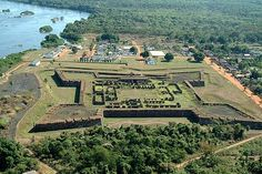 Royal fortress Prince Da Beira, Rondonia, Brazil.  With 970 m perimeter and walls with 10m height, was built in the eighteenth century, in the middle of the Amazon forest.