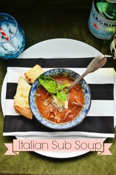 This soup has everything that's on an italian sub, but in a big bowl of soup! Your men will love it for it's meaty substance and your kids eat it up, too! via lifeingrace