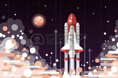 Fusée Espace Banque D'Images, Vecteurs Et Illustrations Libres De Droits