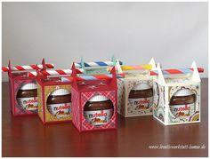 Creative Workshop Karin Müller, Stampin & # Up ! Diy Nutella, Nutella Gifts, Diy Crafts To Do, 3d Paper Crafts, Diy Cadeau Maitresse, Box Creative, Stampin Up, Cadeau Surprise, Honey Packaging