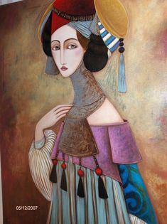 Enigmatic look in the abstract expression, portraits by Faiza Maghni
