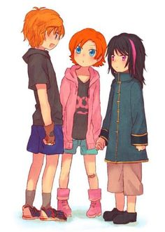 Jaune, Nora, and cute little Ren