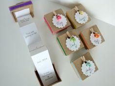 ÉÉN 1 pop-up bericht in een doos-Baby aankondiging door Petite25