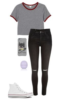 """./././"" by anna-mae-equils on Polyvore featuring Monki, River Island, Converse and Topshop"