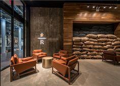 Upscale Starbucks 'Reserve' Opens in Battery Park City - Battery Park City - New York - DNAinfo Coffee Shop Bar, Coffee Store, Coffee Shop Design, Cute Coffee Shop, Coffee Cafe Interior, Cafe Interior Design, Cafe Design, Coffee House Interiors, Cafe Interiors