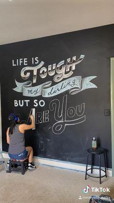 Chalk lettering art by Marvella Chalks