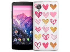 Coque Crystal Nexus 5 Extra Fine Sweetie - Doodling Hearts - 7,90 €