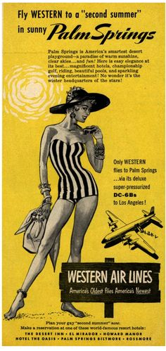 Vintage Palm Springs travel ad from http://www.mrboddington.com/blog/