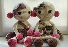 Berit ja Berta 🐵 #amigurumi #lilleliispattern #crochet #heegeldatudmänguasjad #heegeldamine #vusserdaja