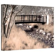 ArtWall Linda Parkers Bridge Over Wash Appeelz Removable Graphic Wall Art 16 by 24
