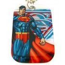 Superman Red, White & Blue Dog Tag & Chain Necklace