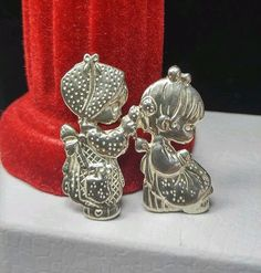 """PRECIOUS MOMENTS Sterling Silver 925 """"To a Very Special Sister"""" Girl Brooch /Pin #PreciousMoments"""