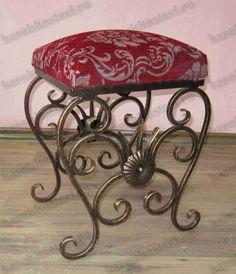 Art.0970 - Пуфики Iron Furniture, Steel Furniture, Cheap Furniture, Furniture Design, Wrought Iron Garden Gates, Wrought Iron Bench, Iron Front Door, Tv Stand Decor, Metal Bender