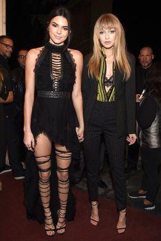 Gigi Hadid und Kendall Jenner in High Heels mit Schnürung von Dsquared2