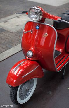 """The Vespa is a line of scooters patented on April 1946 by the company Piaggio Co, S. The name Vespa, which means """"wasp"""" in Italian, was chosen by Enrico Piaggio. Vespa Bike, Vespa 125, Piaggio Vespa, Lambretta Scooter, Vespa Scooters, Vintage Vespa, Triumph Motorcycles, Custom Motorcycles, Ducati"""