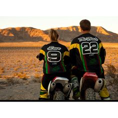 Look how cute these save the dates are. The couple love dirt bike riding ...... Too cute.