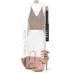 Untitled #2291 by stylebydnicole on Polyvore featuring Zara, Donna Karan, Le Silla, Reeds Jewelers and NARS Cosmetics