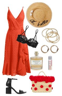 """""""summer in milan"""" by sofi-ferreyra on Polyvore featuring ABS by Allen Schwartz, Trina Turk, Alexander Wang, Kate Spade, Library of Flowers, Burt's Bees, Nannacay, Acne Studios and La Perla"""