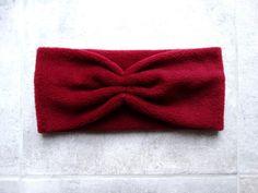Stirnbänder - Stirnband Fleece dunkelrot - ein Designerstück von lucylique bei DaWanda