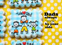 Stick Figure Dad Cookies for Father's Day by Munchkin Munchies.