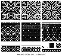 Set of Norwegian Star knitting patterns