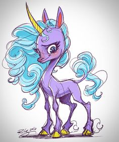 The Art of Kellee Riley - Have a random #unicorn today!  #art #drawing...