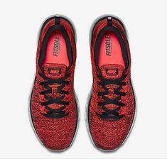 Authentic 2018 Nike Air Max Flyknit University Red Hyper Crimson Black