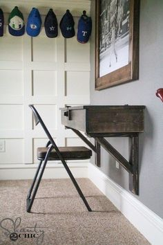 DIY Floating Desk with Storage - Shanty 2 Chic