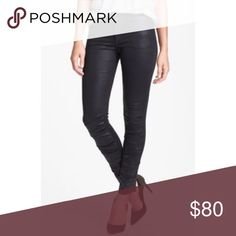 Joe's Ruched Coated Skinny Jeans (jet black) Perfect fall and winter pants; coated jet black. Joe's Jeans Jeans Skinny
