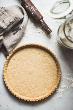 This is a the best classic sweet tart crust recipe and it goes well with any filling. It's buttery, crispy, crumbly, and tastes like a cookie.