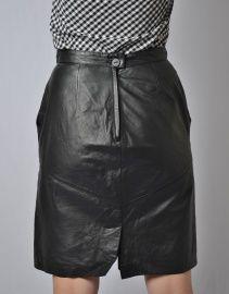 leren vintage taillerok