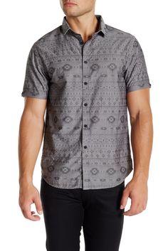 Image of Howe Aztec Short Sleeve Trim Fit Shirt