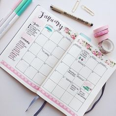 BULLET JOURNAL ~ Monthly Log