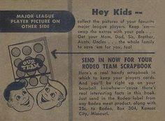 1955 Rodeo Meats Kansas City Athletics #19 Forrest (Spook) Jacobs Back