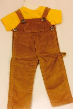 Cute Outfit for 18 inch Dolls Like American Girl Dolls Overalls Shirt | eBay