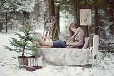 Neve na floresta