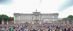 The Red Arrows fly over Buckingham Palace during Trooping the Colour - Queen Elizabeth II's Birthday Parade, at The Royal Horseguards on June 14, 2014 in London, England.