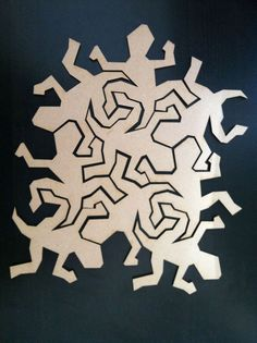 Tessellating Lizard Puzzel #TechShop #laser_cutter #wood