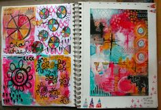 It has taken me a while to get round to blogging these messy mark making pages ... June just seemed to get super-busy all of a sudden. ...