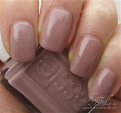 Essie polish in Lady Like. Just got this in my Birchbox and I'm loving it. Very early 80s mauve throwback.