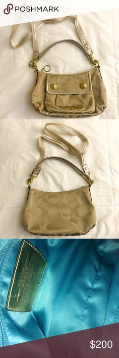 Authentic Coach Purse Product details:  - Includes removable long strap  - Only used a few times  - Small markings show it's been worn out (not noticeable & still in great condition) Bags Crossbody Bags