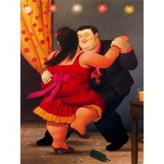 Bailarines By Fernando Botero- Art gallery oil painting reproductions Tango Art, Plus Size Art, Couple Painting, Fat Art, Mexico Art, The Embrace, Illustrator, Oil Painting Reproductions, Arte Pop