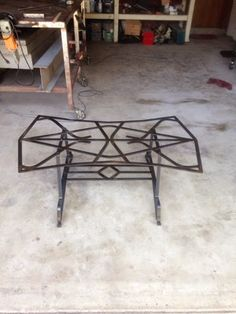 BRAD ALLEN   welding co: Hand forged iron table with glass top