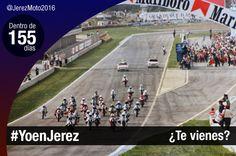 Dentro de 155 días #YoenJerez. Año 1987, salida de carrera. En estos años, el Ovni del Circuito de Jerez era un UFO en toda regla!. @vivejerez