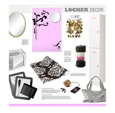 """Locker Decor"" by hellodollface ❤ liked on Polyvore featuring interior, interiors, interior design, Zuhause, home decor, interior decorating, Prepac, BackToSchool und lockerdecor"