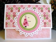 Christmas Pink TREE Gift Card Holder